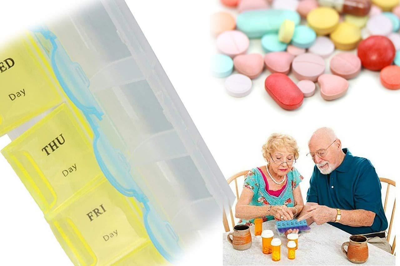 373 28 Days Medicine Pill Drug Storage Box Case Mini Pillbox Container