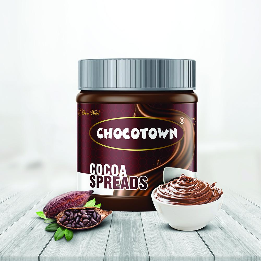 Chocotown Chocolate Spreads - Cocoa Spreads & Strawberry Spreads- 350 gm