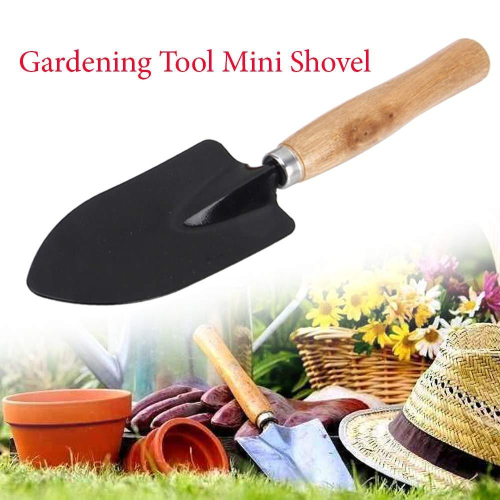 Your Brand Gardening Tools - Hand Cultivator, Small Trowel, Garden Fork, Hand Weeder Straight with 1-Pair Rubber Gloves (Set of 5)