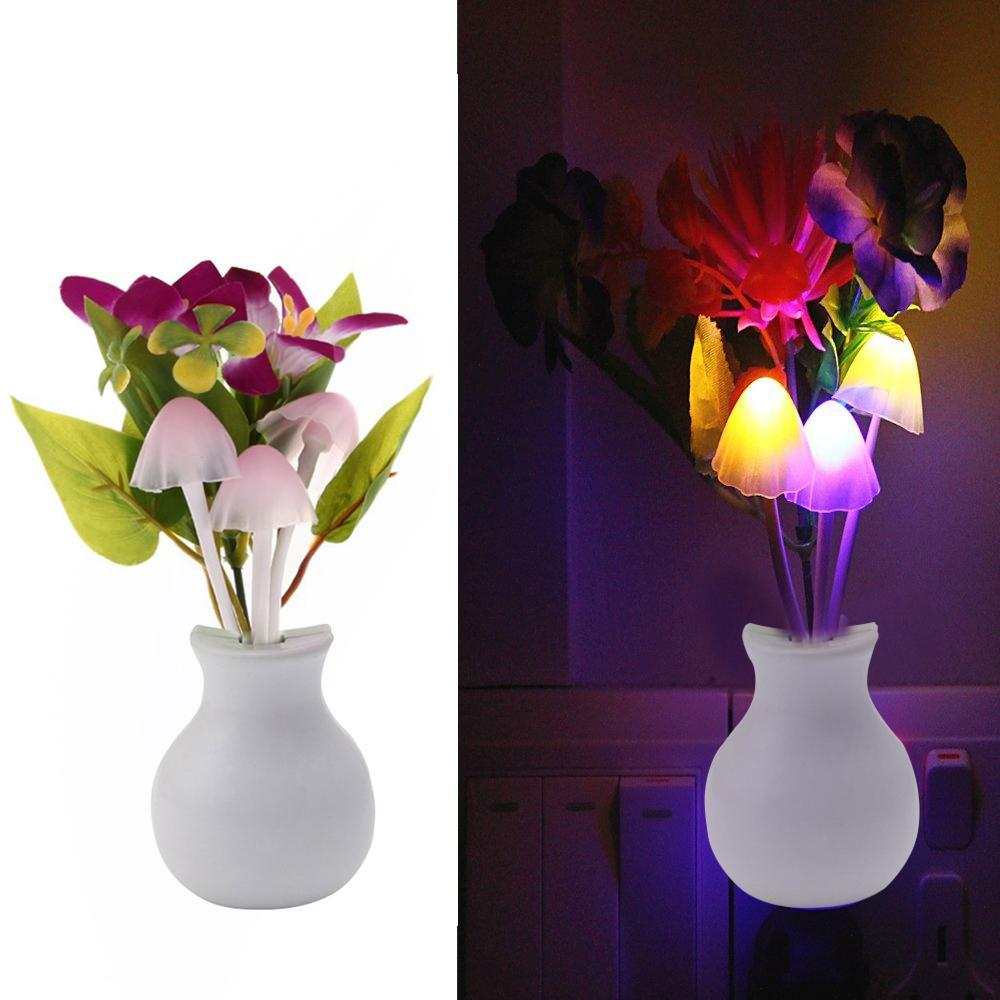 217 LED Dream Night Light, Auto ON/Off Sensor Mushroom Lamp (Multicolor)