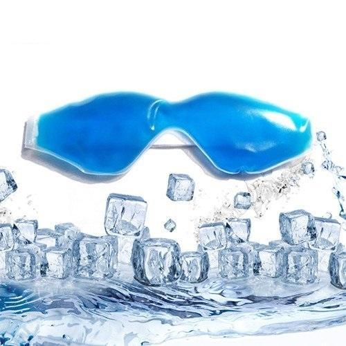 Plastic Cooling Gel Eye Mask with Stick-on Straps (Multicolour)
