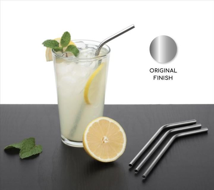 Your Brand Food Grade Silicone Straws(4pc), Stainless Steel Straws(4pc) & Straw Cleaning Brush(2pc)