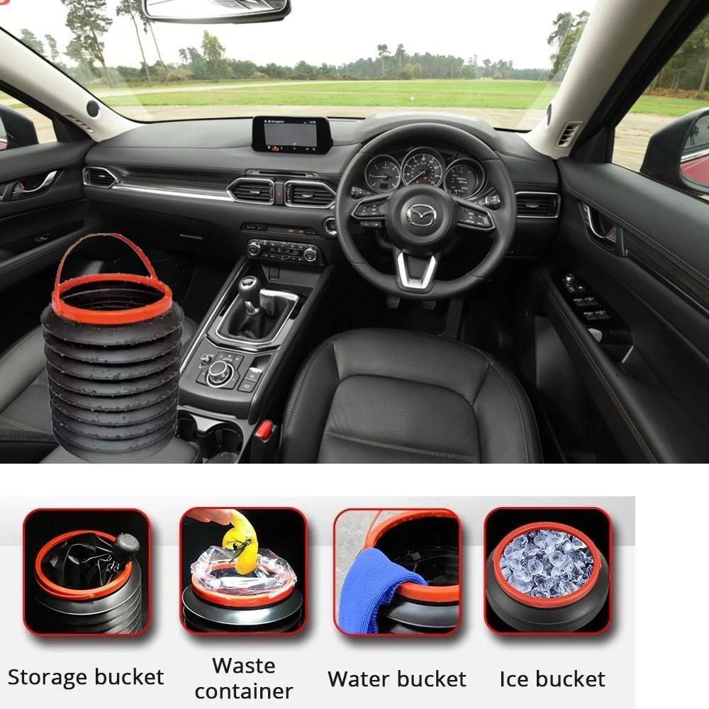 237 -4L Foldable Car Trash Can Storage Organiser