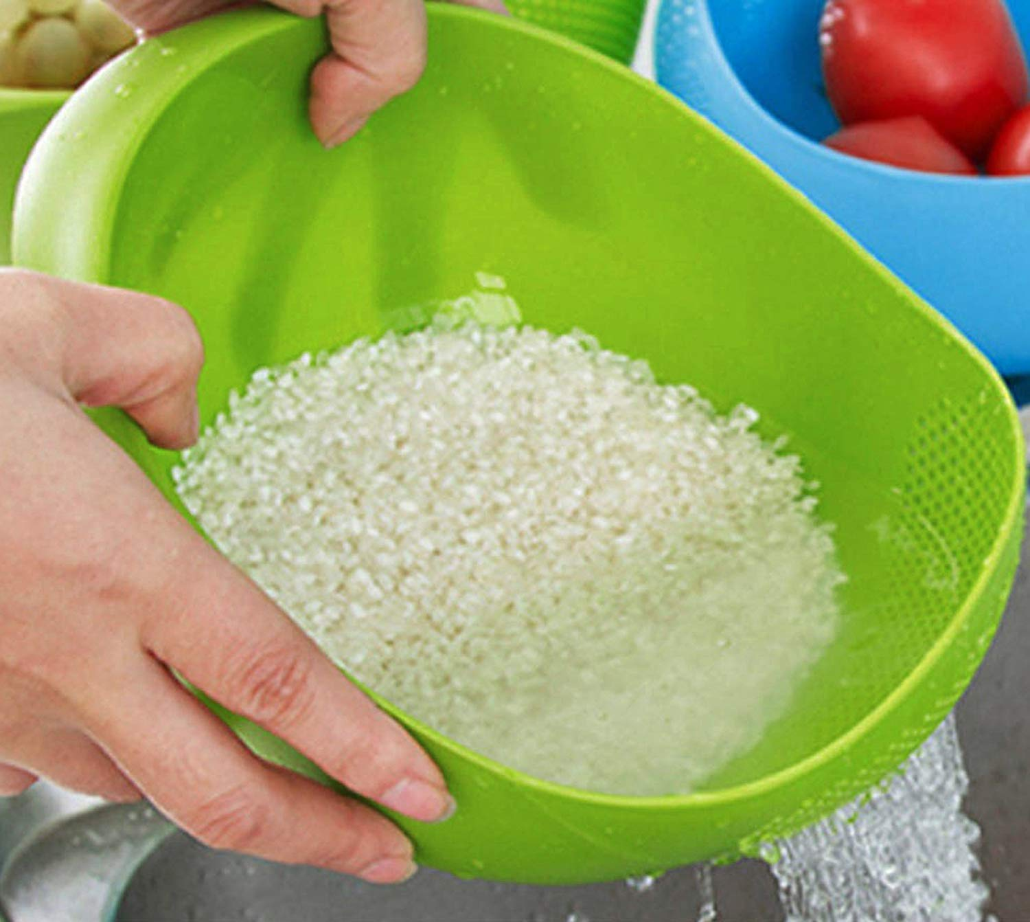 2062 Plastic Heavy Rice Bowl Strainer/Colander