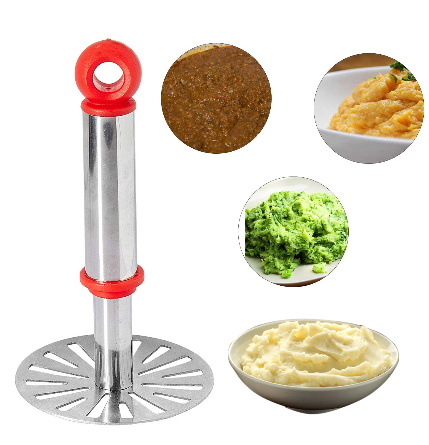 586 Stainless Steel Potato Masher, PauBhaji Masher