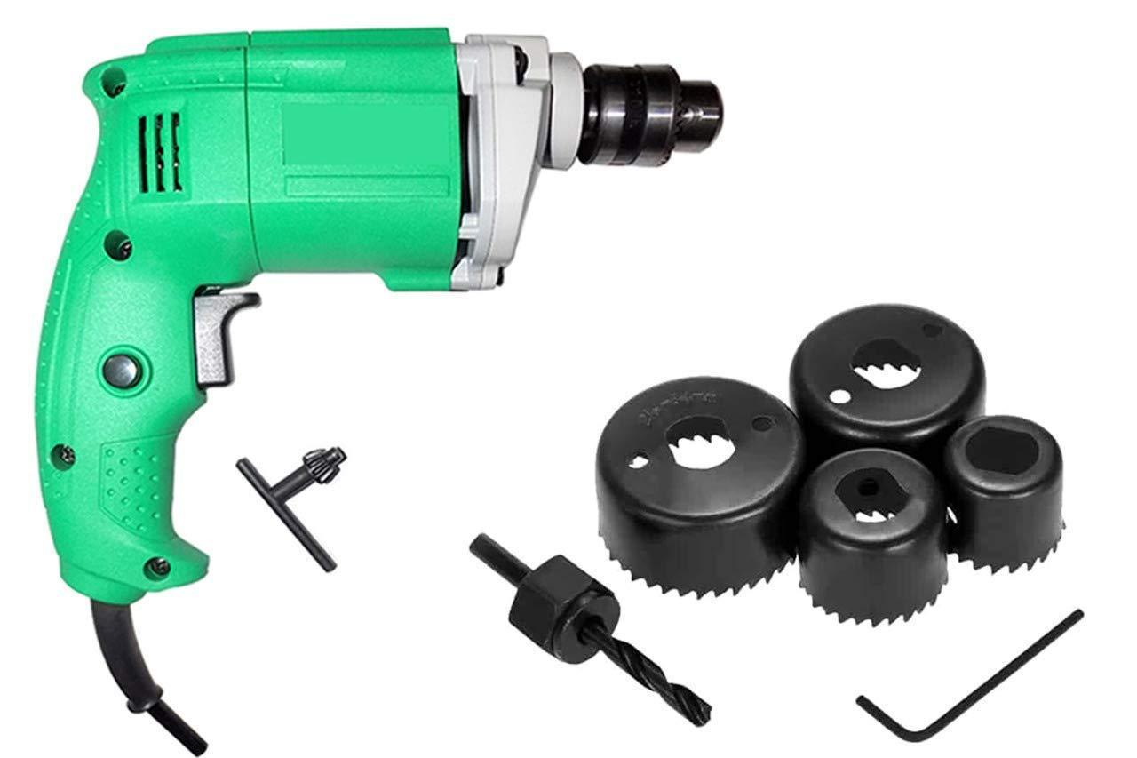 Your Brand Professional Power Tools Electric Drill Machine 10 mm Drill Bit Cutting Round Circular Cutter 6Pc Hole Saw Set (Multicolour)
