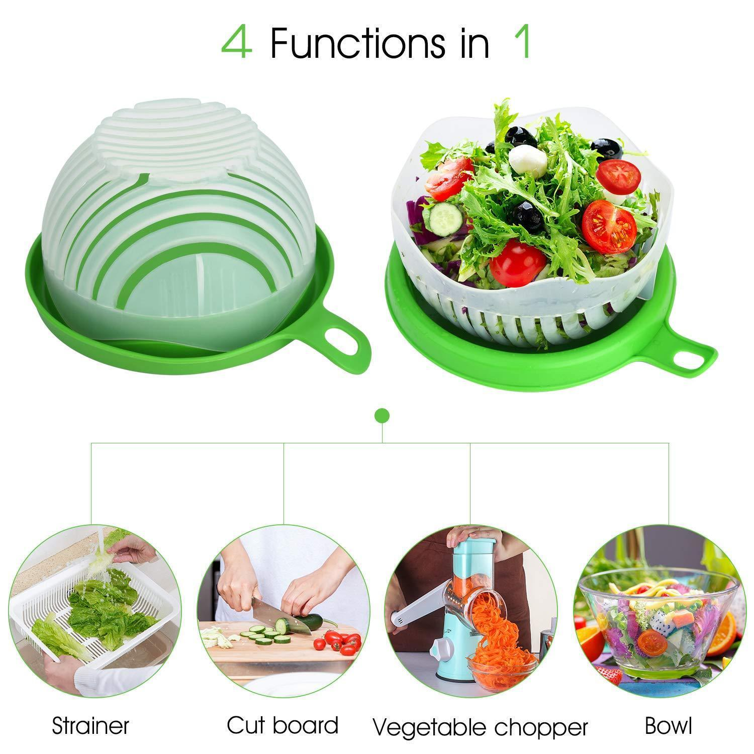 743 Salad Cutter Bowl Upgraded Easy Salad Maker, Fast Fruit Vegetable Salad Chopper Bowl Fresh Salad Slicer