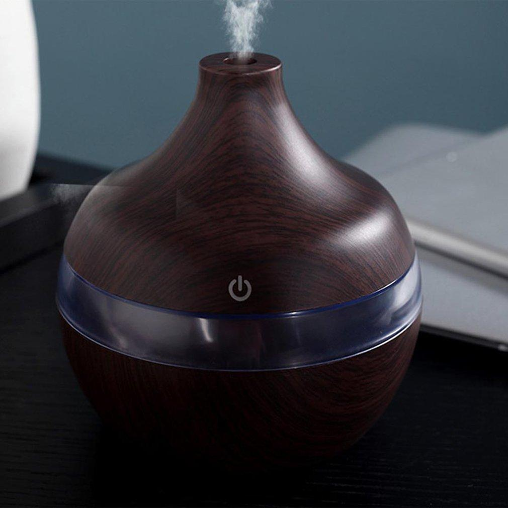 1201 Wood Grain Aromatherapy Usb Humidifier Water Droplets Air Purification Essential Oil Aroma Diffuser Creative Home Grain