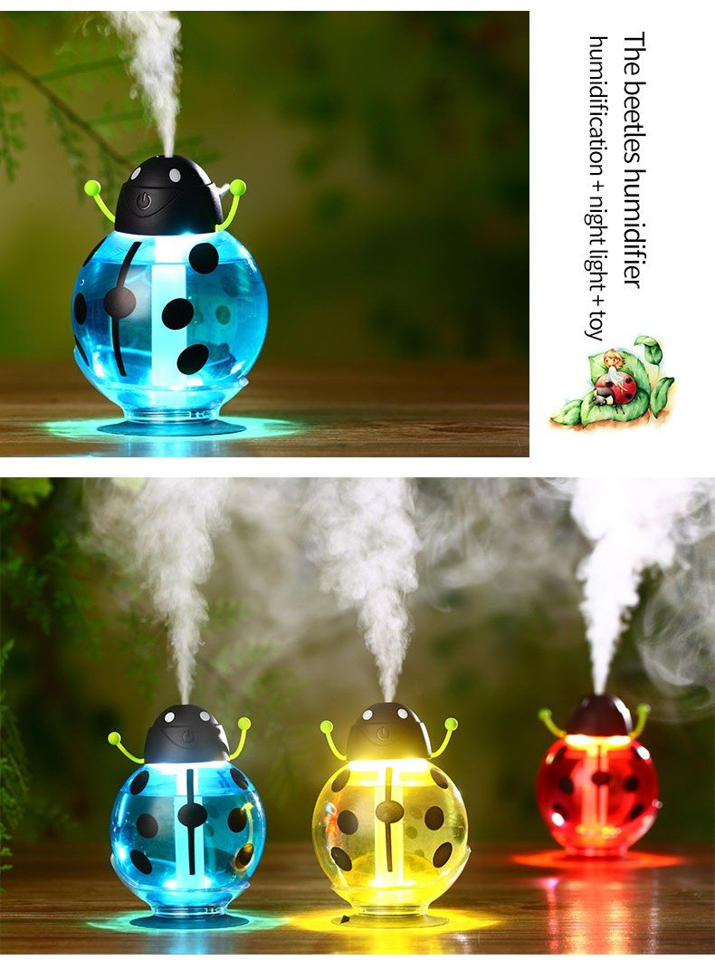 371 Cute Beatles LED Light Humidifier Air Diffuser Purifier Atomizer Essential oil diffuser difusor de aroma mist maker fogger Gift