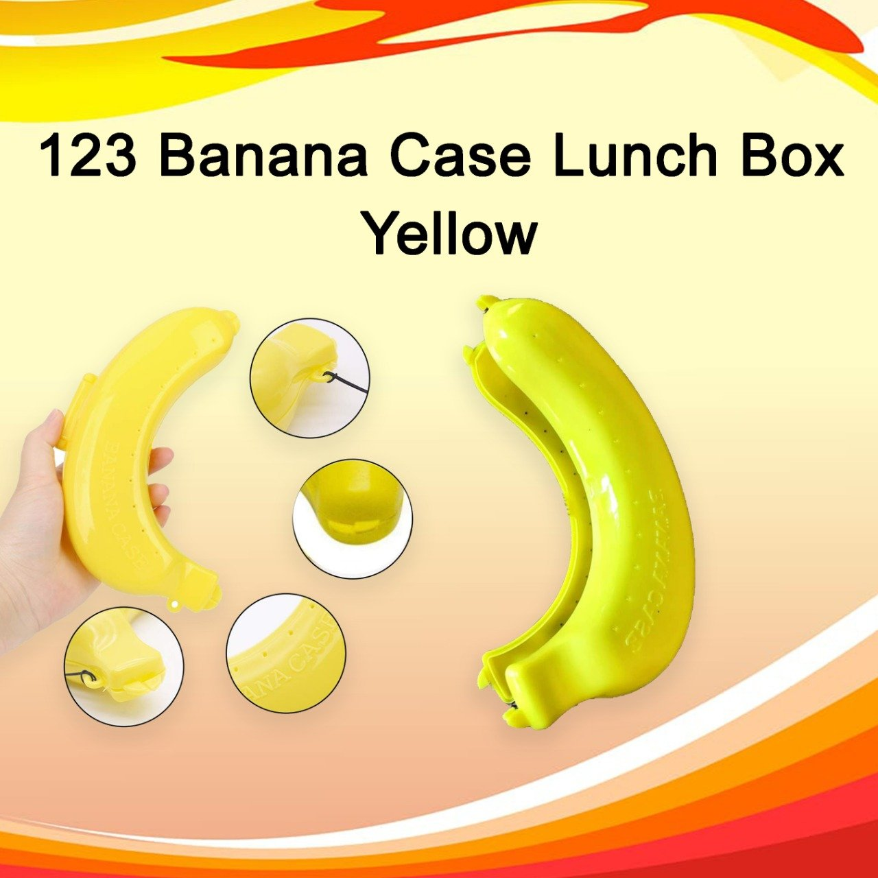123 Banana Case Lunch Box Yellow