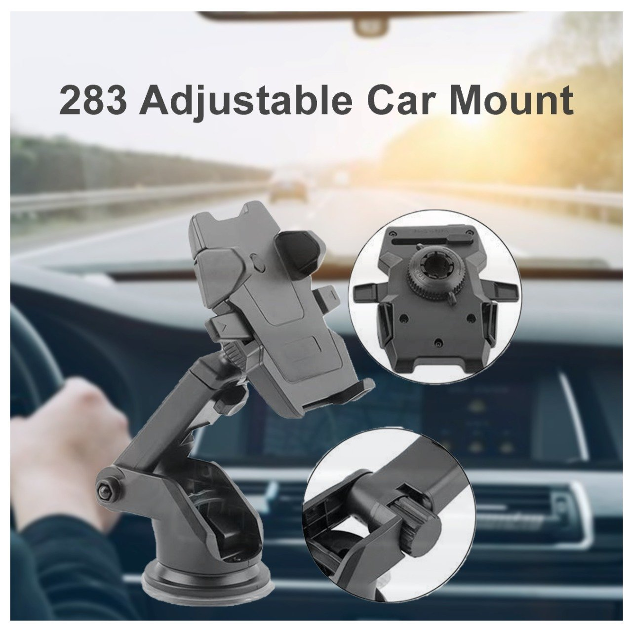 283 Adjustable Car Mount (Multicolour)