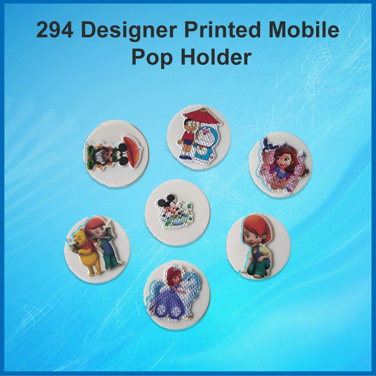 294 Designer Printed Mobile Pop Holder