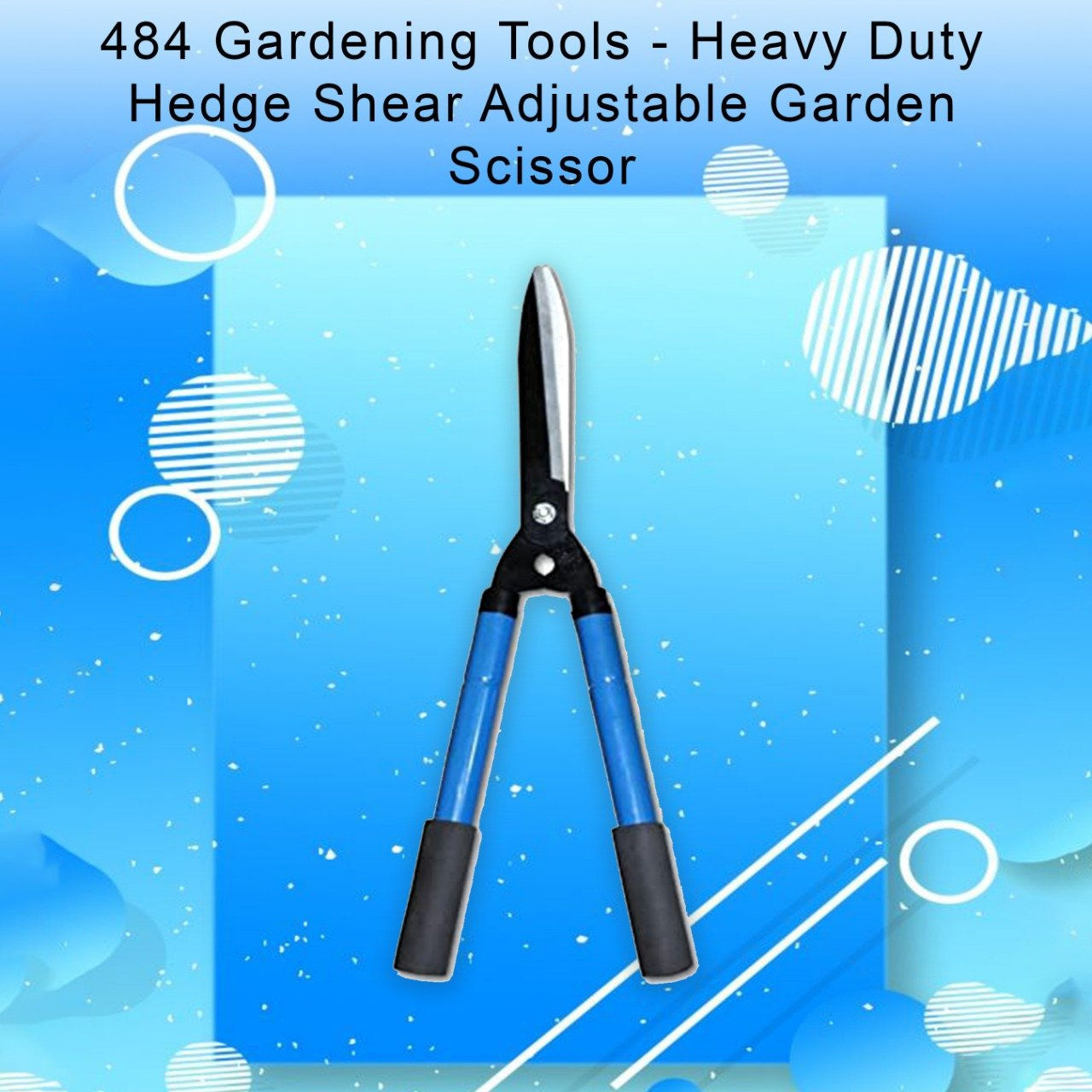 484 Gardening Tools - Heavy Duty Hedge Shear Adjustable Garden Scissor with Comfort Grip Handle