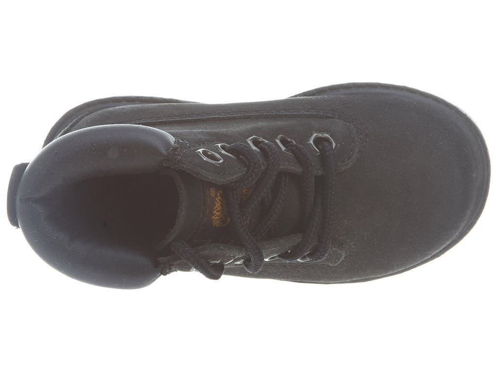 """TIMBERLAND TODDLER/'S 6/"""" CLASSIC BOOTS 10810 BLACK"""