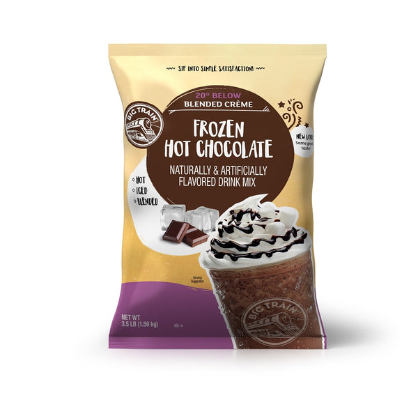Big Train 20 Below Frozen Hot Chocolate Beverage Mix - 5 x 3.5lb Bags