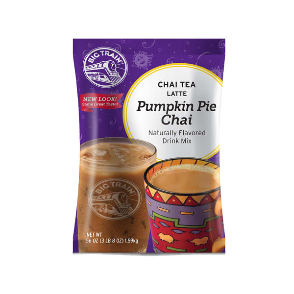 Big TrainPumpkin Pie Chai Tea Latte Beverage Mix - 4 x 3.5lb Bags