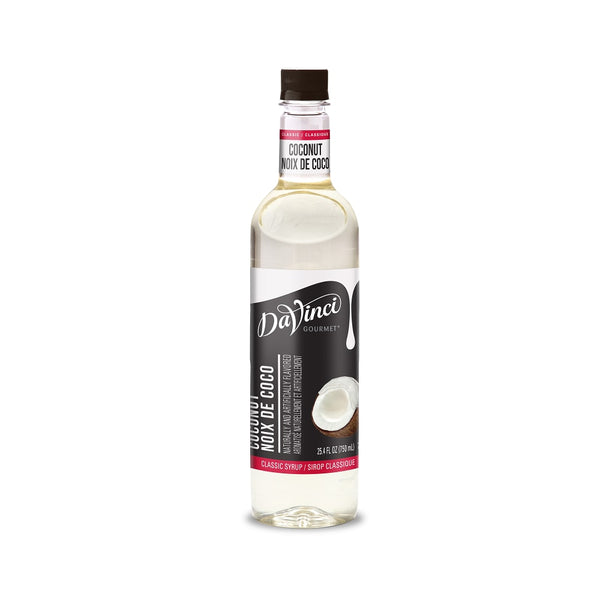DaVinci Gourmet Coconut Syrup, Plastic Bottle, 4 x 750 mL