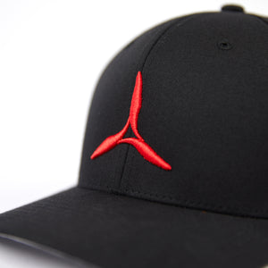 Prop Hat (Red on Black)