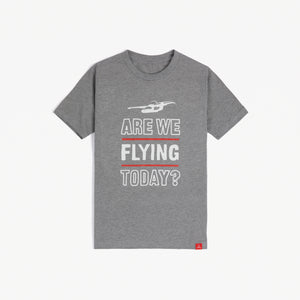 "Youth ""Are We Flying Today?"" Tee (Gray)"