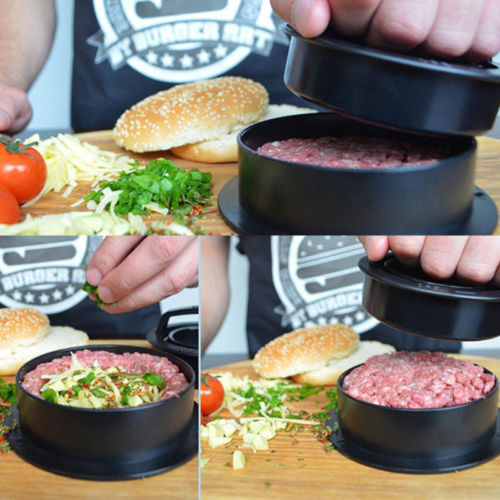 1Set Manual Hamburger Presses Stuffed Burger Maker Cutlets Patty Maker Mold Kitchen Gadgets