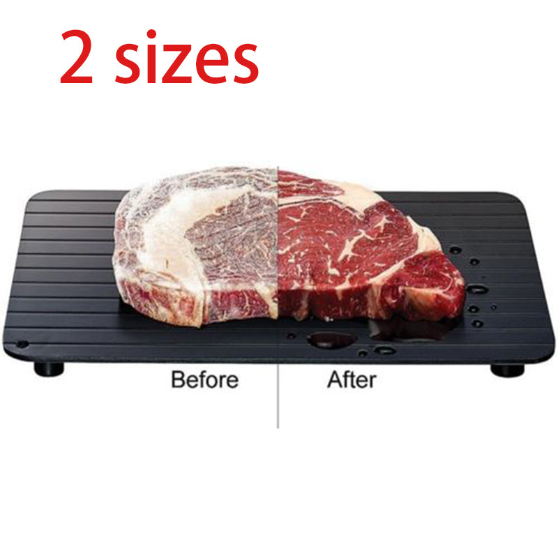 Fast Frozen Defrost Tray Plate Kitchen Heating Tray Defroster Meat Fish Steak Food Without Electricity Microwave Rapid Thaw