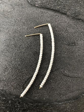 Arched Tinsel Earrings