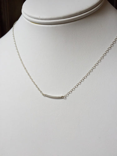 Sterling Silver Rounded Tube Necklace