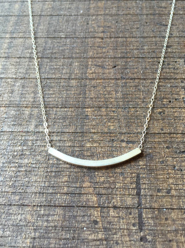 Sterling Silver Square Tube Necklace
