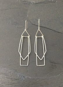 Sterling silver geometrical earrings