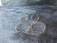 Crisscross Small Hoop Earrings in 14k Gold or Silver