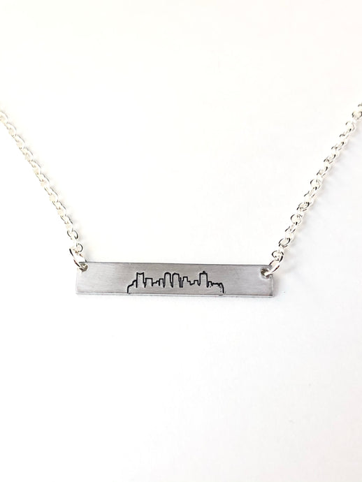 Fort Worth, Texas Skyline Necklace