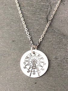 Texas Star Ferris Wheel Necklace