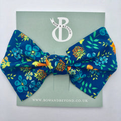 Blue Floral Liberty Print Big Bow