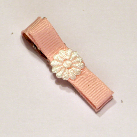 Baby Pink Flower Hair Clip