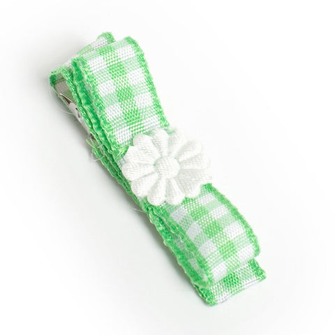 Green Gorgeous Gingham Hair Clip
