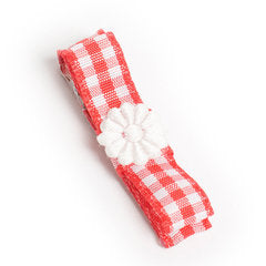 Red Gorgeous Gingham Hair Clip