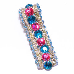 Blue & Pink Be Jewelled Hair Clip