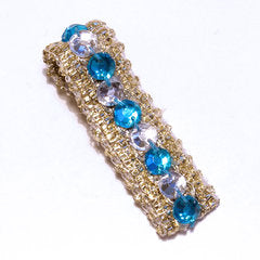 Blue & White Be Jewelled Hair Clip