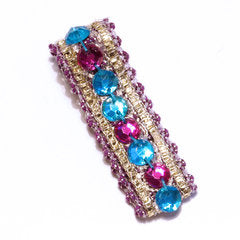 Blue & Purple Be Jewelled Hair Clip