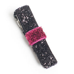 Black & Cerise Society Sparkle Hair Clip
