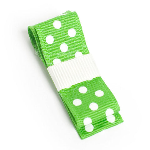 Wide Green Spot On Hair Clip