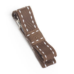 Chocolate Simple Stitch Hair Clip