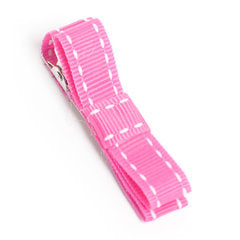 Pink Simple Stitch Hair Clip