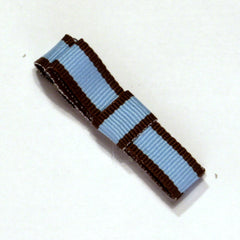 Blue & Chocolate Tailored Stripe Hair Clip