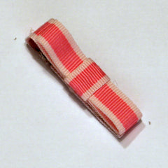 Contrast Pink Tailored Stripe Hair Clip