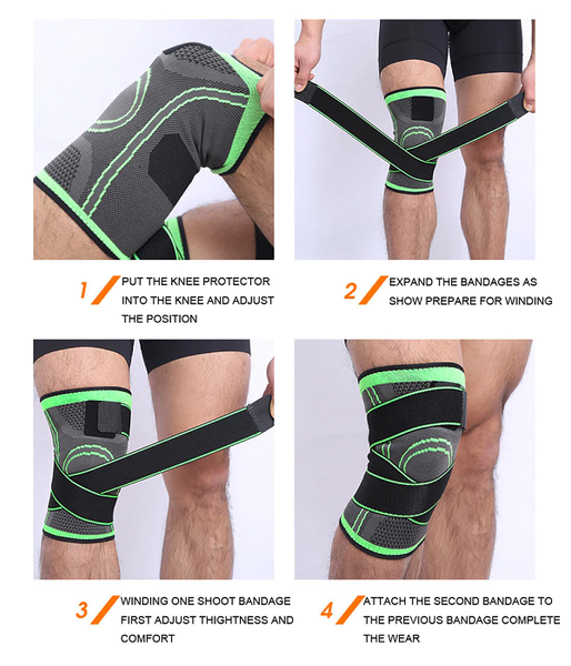 knee brace-  steps to wear a knee brace