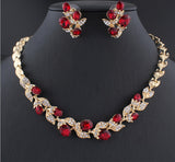 Beautiful Jewelry set with Necklace & Earrings in Red Black White colors