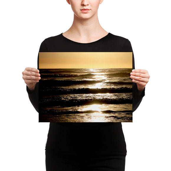 Sunset Over the Sea - Canvas Print