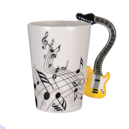 Guitar Coffee Mug - Yellow