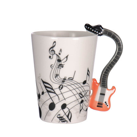 Guitar Coffee Mug - Red